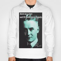 fitzgerald Hoodies featuring Francis Scott Fitzgerald by Guido prussia