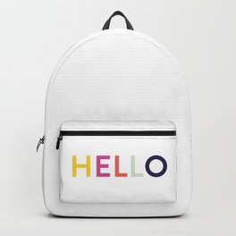 Hello, Hi, Namaste, Great Day. Backpack