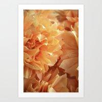 Crepe flower orange Art Print