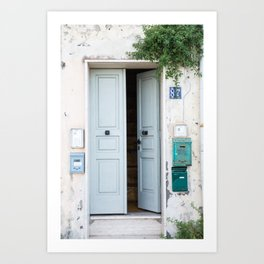 Procida Door Art Print