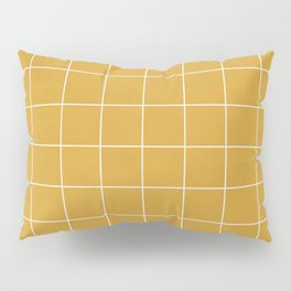 Small Grid Pattern - Mustard Yellow Pillow Sham