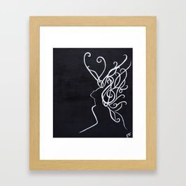 Curls Framed Art Print