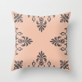 Rococo Floral Elements I Throw Pillow