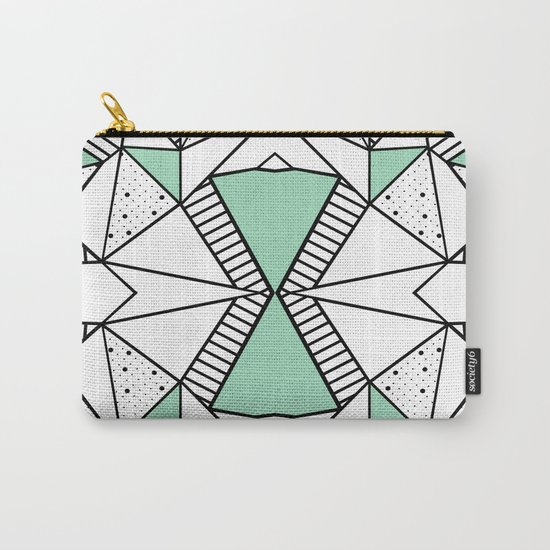 Ab Lines and Spots Mint Carry-All Pouch