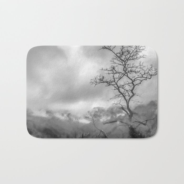 Mist in mountains Bath Mat