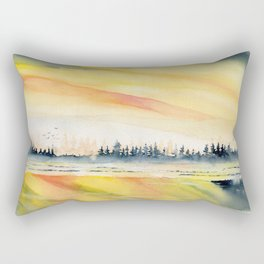 Sunset Reflections Rectangular Pillow