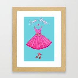Christmas Santa Baby / Holiday dress, heels, pink party girl, holidays Framed Art Print