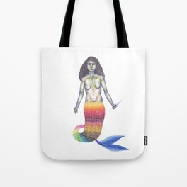Mermaid with a knife Tote Bag