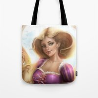 rapunzel Tote Bags featuring Rapunzel by ChrySsV
