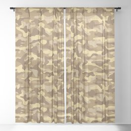 Sand Camouflage Sheer Curtain