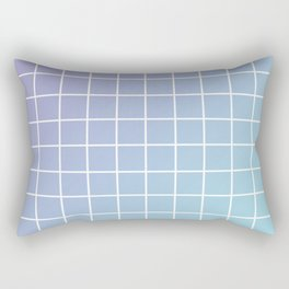 Lavender acqua minimalist grid pattern Rectangular Pillow