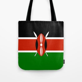 Kenyan national flag - Authentic version Tote Bag