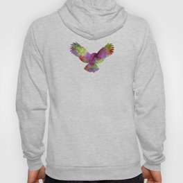 Owl 02 in watercolor Hoody