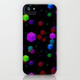 Neon Cubes iPhone Case