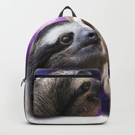Three Sloths Howling At Moon Like Wolves Backpack
