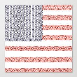 Captain American Flag Canvas Print