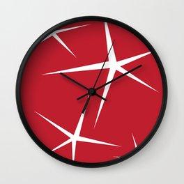 Christmas stars Wall Clock