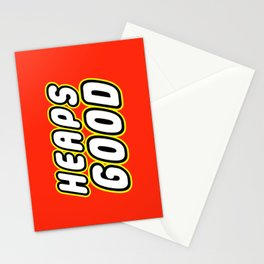 HEAPS GOOD in Brick Font Logo Design by Chillee Wilson Stationery Cards