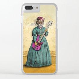 Tessy Tigress Shreds a Solo . . . Grrrrrr! Clear iPhone Case