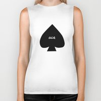 ace Biker Tanks featuring ACE by An Artsy Corner
