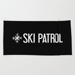 Ski Patrol: Snowflake Beach Towel