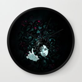 Bubbles for Miss Tentacles Wall Clock