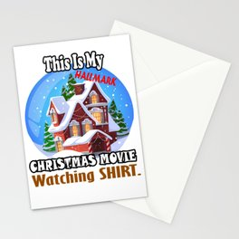 This Is My HallMark Christmas Movie Watching Shirt Stationery Cards