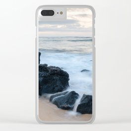 Dramatic coastline at Poipu beach in Kauai, Hawaii. Clear iPhone Case