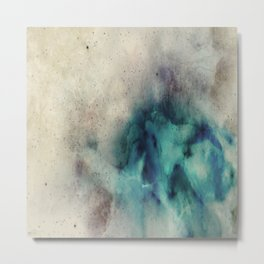 Blue Nebula Smoke Metal Print