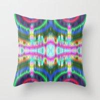 tye dye Throw Pillows featuring psyk dye by a.r.r.p.
