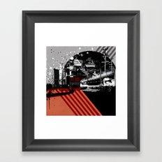 CMYK Triptych - Magenta Framed Art Print