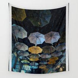 Umbrella night Wall Tapestry