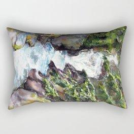 Avalanche creek, Glacier National Part Rectangular Pillow