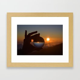 Haleakala Sunrise - Lensball Framed Art Print