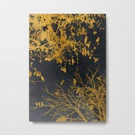 gold and black floral #goldblack #floral Metal Print