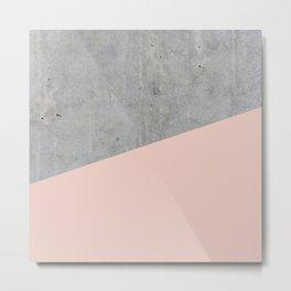 Concrete and Pale Dogwood Color Metal Print