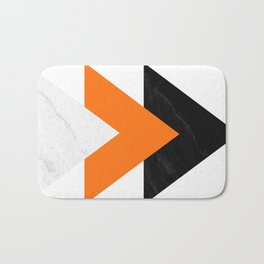 Forward arrows marble orange Bath Mat