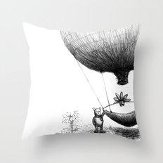 Zander and his Balloon  Throw Pillow