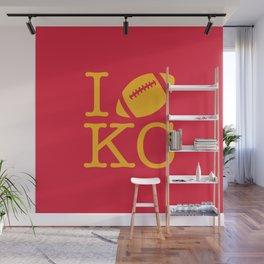 I love Kansas City Football Wall Mural