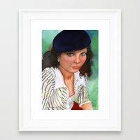 american beauty Framed Art Prints featuring American Beauty by Ellen Sullivan Farley