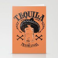 tequila Stationery Cards featuring Tequila Tradicional by Tshirt-Factory