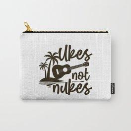 Hawaiian Ukulele Uke Ukes Not Nukes Carry-All Pouch