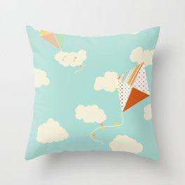 Let's go Fly a Kite Throw Pillow