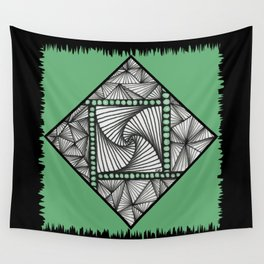 Paradox Tile on Green Wall Tapestry