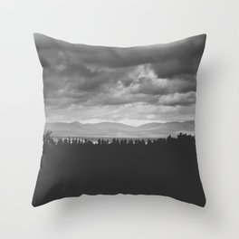 Scenic View of Mountains in Quebec Throw Pillow