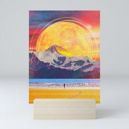 The Mountain At The Shore Mini Art Print