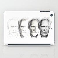 clint barton iPad Cases featuring Clint Eastwood by Chloé Arros