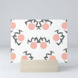 Etch  Lines and Salmon Circles Mini Art Print