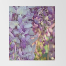 The scent of wisteria Throw Blanket