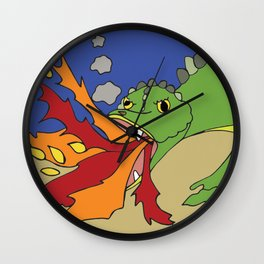 Little Leviathan from Job 41 Wall Clock